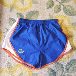 Nike womans university of Florida running shorts